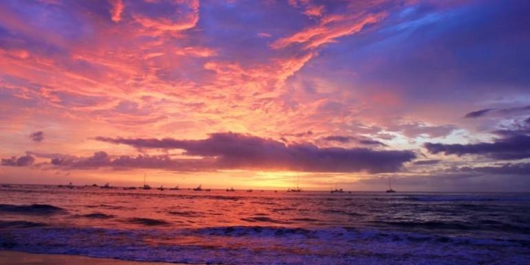 Sunset Rainy season